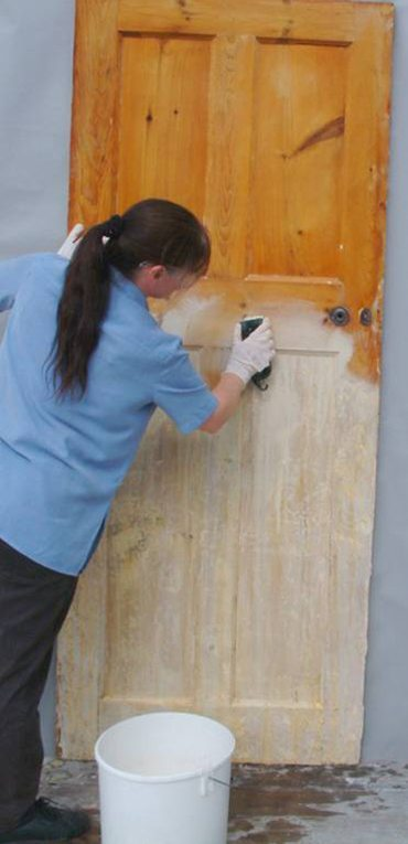Kling Strip - Paint Stripping Door